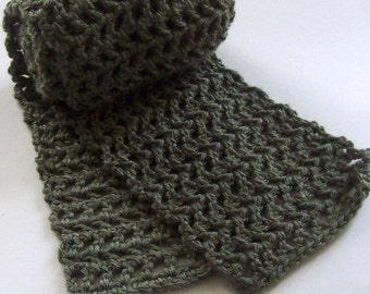 Crochet Scarf, Made to Order, Choose Your Own Color, Custom Crochet Scarf