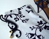 Black White Shoebag , Couture Shoe bag