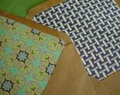 Four Vintage Lined Envelopes