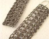 Lattice Earrings...medium...oxidized silver