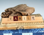 FAMILY Scrabble Letters Sign RECYCLED