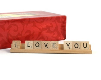 I LOVE YOU Scrabble Letters Sign