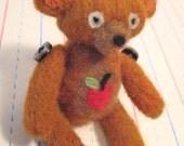 Freddy Bear Needle Felted Doll