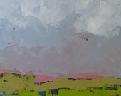 abstract landscape oil painting, Spring in the Valley