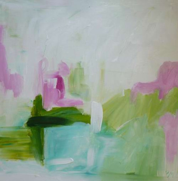 original abstract painting Spring April Easter
