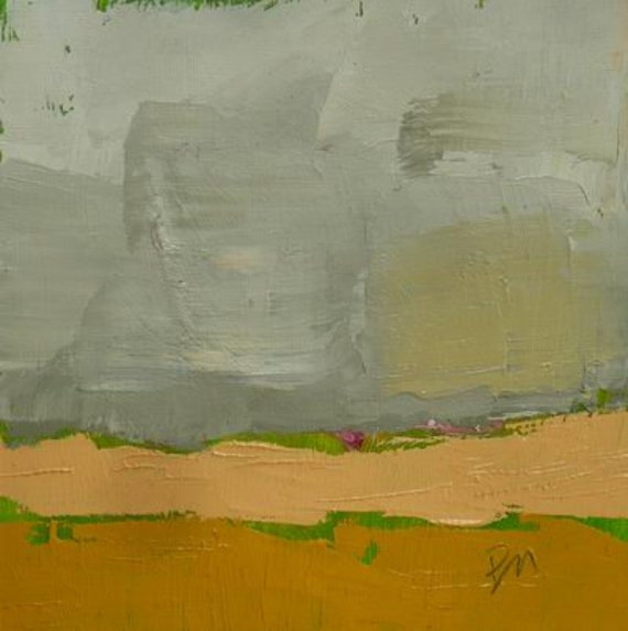 original abstract landscape oil painting