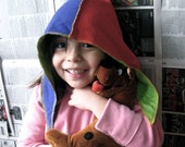Organic Purple and Red Aviator Hat for Kids