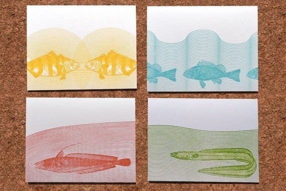 Ichthyo Series Cards - Variety Pack of four