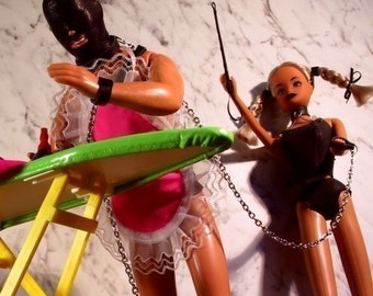"Sex & Housework - ""Ironing Gimp"" - adult card - birthday, funny valentine, mature erotic photography with dolls, risque, art image 21/1"