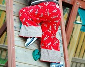 ANKLE BITERS - Sock  Monkey Silly - Super Cute Lounge Pants for Boys or Girls - For Baby or Toddler or Big Kid