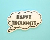 thought bubble barrette - HAPPY THOUGHTS