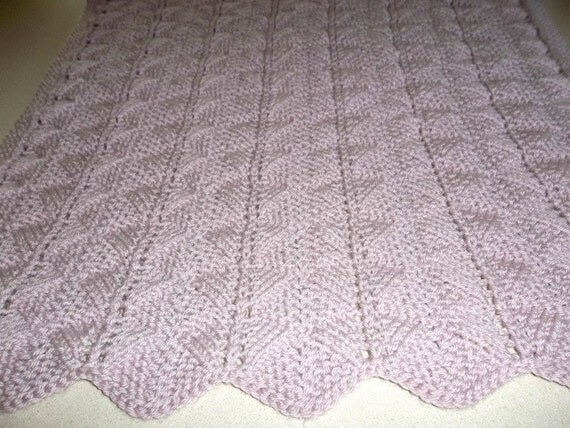 Pale Currant Baby Preemie/Car Seat/Comfort/Security  Hand Knit Blanket