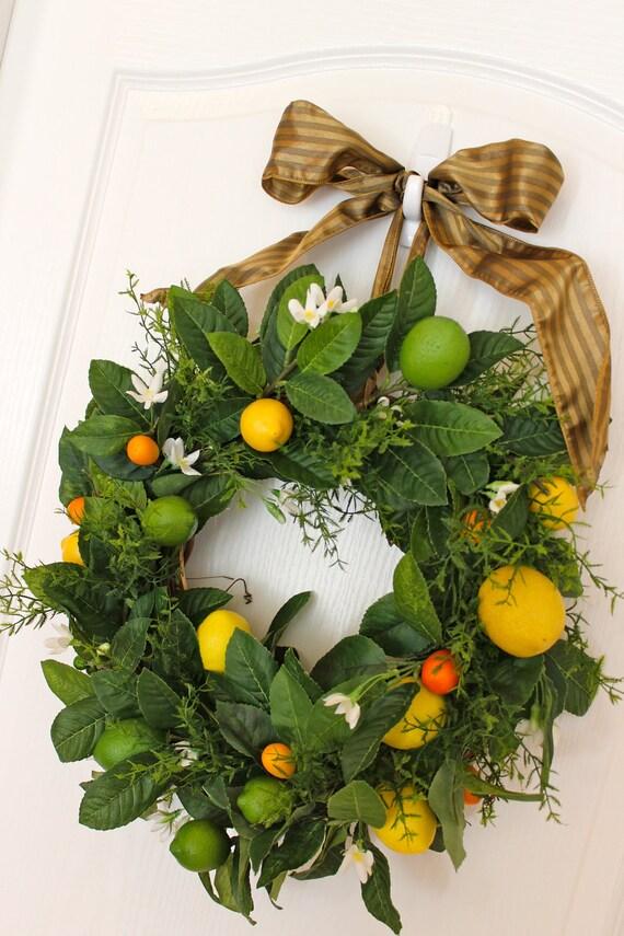 is lemon a fruit fruit wreath