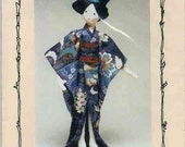 Cherry Blossom Japanese Cloth Doll Pattern