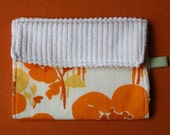 Vintage Orange Floral Burp Cloth