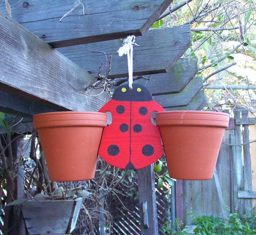 Plant Pot Holders Diy: Clay Pot Hanger Ladybug