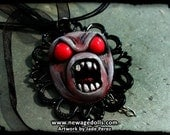 Angry Demon Cameo Necklace