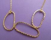 Large Gold Amoeba-ish Necklace