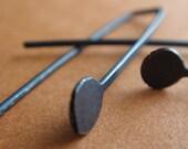 Buds Earrings - Oxidized Silver