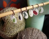 mental vegetables small stitch markers (fruits and flowers)