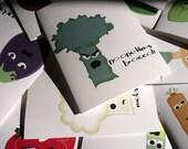 mental vegetables bumper crop set of 12 note cards
