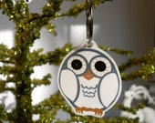 holly jolly tree ornament (the first snow owl)