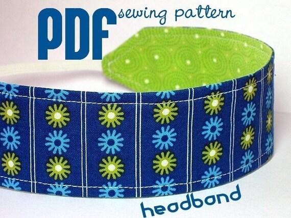 Reversible Headband PDF Sewing Pattern