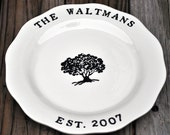 Personalized Family Tree Wedding or anniversary platter