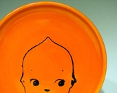 Made to Order - little plate kewpie cabeza (clementine)