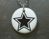 pendant star (white)