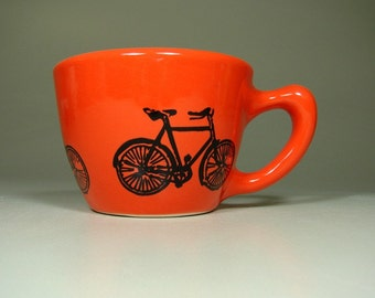 12oz cup dusty road bike - Made to Order / Pick Your Colour