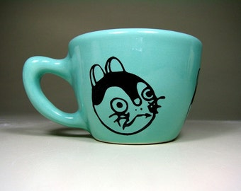 12oz cup fortune kitty - Made to Order / Pick Your Colour