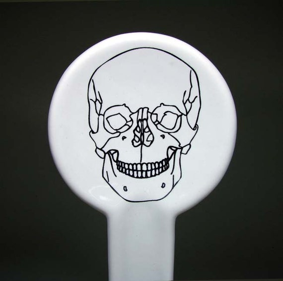 spoon rest skull outline - Made to Order / Pick Your Colour