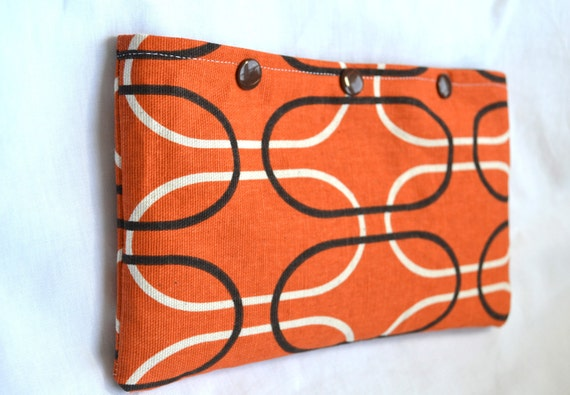 Modern Snap Pouch - Orange Oval