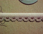 NEW 3/8 Taupe BEIGE Nude or Barely BLUE Dainty Scalloped Edge Elastic 303 5 yds