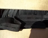 Buttonhole Elastic 3/4 Black 5 yds. Maternity Childrens clothing Adjusting