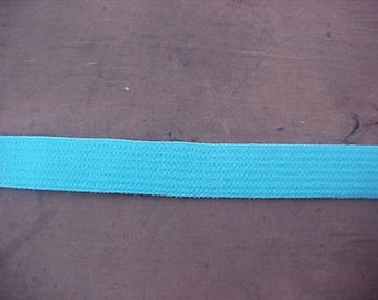 NEW 3/8 Bright Turquoise Aqua BLUE Plush  Elastic Headband 5 yds.