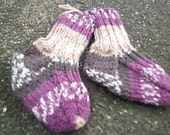 SALE Handknit Baby Socks-Free shipping