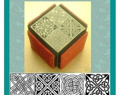 Celtic Square Knot Set 4 Designs on One Cube #351