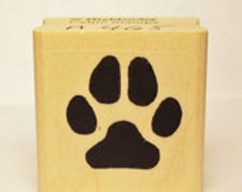 Dog Paw Print Rubber Stamp Puppy Pet #465