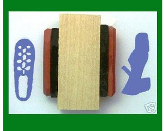Irish Dance Shoes Rubber Stamp Ghillie and Hard Shoe on Single Mounting  #346
