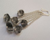 Progressive Sale... 20% Off...Black Rutile Quartz and SS Earrings - LAE05