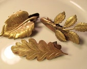Metal Leaf Barrettes