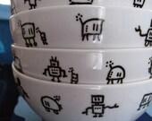 Robot Motif Bowls