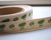 Frog and Mushroom Twill Tape