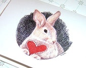 Happy Birthday Greeting Card, Some Bunny Loves You Bunny Rabbit Birthday Card with envelope