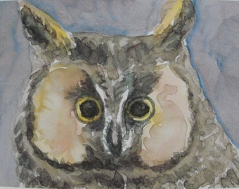 Digital Print, Owl Print, Bird Art Print, Owl Art Print, Great Horned Owl Print, Bird Print, Owl Print, Home Decor, Office Decor