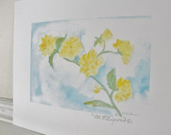 Flower Art Print Yellow Flower Botanical Print Garden Nature Art Print
