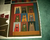 Wild Crazy Alley Cat Cotton Fabric