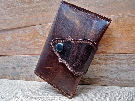 Leather Phone Wallet Brown Pull-Up - SALE - see Shop for Coupon Codes...